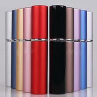 aluminium spray bottles - 6ml Mini Portable Refillable Perfume Atomizer Colorful Spray Bottle Empty Perfume Bottles Aluminium Anodized Compact Perfume Atomiser