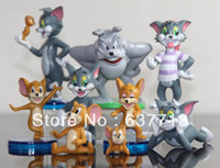al por mayor pico tv-5 / LOT de la historieta TOM JERRY figura del punto envío libre del juguete (9 PC / set) 1206 # 06