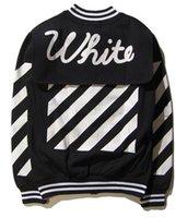 base ball jackets - men women off white jacket coat Classic diagonal stripes harajuku hip hop college camo bomber jacket streetwear base ball jacket