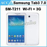 Wholesale Original Refurbished Samsung Galaxy Tab SM T211 inch WIFI G GB RAM GB ROM MP Camera White Color Factory Unlocked Full Set DHL