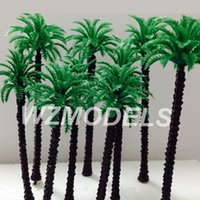 Wholesale Railway Scenery miniature model plastic palm trees Roadside Green plastic mm hgih Palm Tree