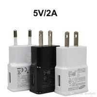 Wholesale USB Wall Chargers V A AC Travel Home Charger Adapter US EU Plug for Samsung Galaxy Note S7 S6 Edge Plus