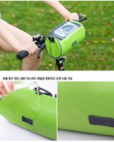 Wholesale New Arrival Outdoor Cycling Mountain Bike Bags Cycling Front Tube Bicycle Handlebar Bag Touch screen mobile phone bag Cycling package