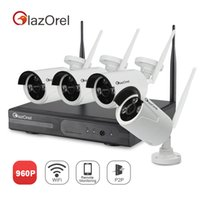 Wholesale Glazorel CH WIFI P NVR Wireless Video Surveillance Camera System with outdoor Indoor P Day Night IP Camera Without TB Hard