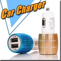 alloy car adapter - Metal Alloy Shell A A Dual Port USB Car Charger Adapter for Apple iPhone S plus mini Touch Samsung