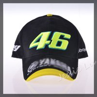Wholesale Outdoor Men F1 Racing black Cap Women Sports Motorcycle VR the doctor Car Racing Baseball Caps Visors Sun Hat