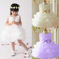 Un enfant portant robe princesse robe de mariée fille robe manches épaule avec 2016 nouvelles filles peuvent choisir deux types de styles