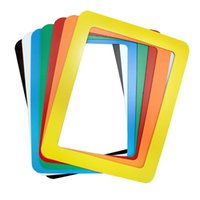 bathroom picture frames - New Mixed Color PVC Magnetic Fridge Picture Frames Photo Magnets for Refrigerator Family Memories Frame Inch Random Ship