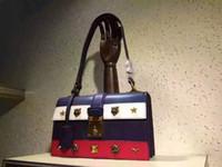 Wholesale 2016 New fashion women top quality rivet colour genuine leather big size handbag women shoulder bag No