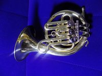 Wholesale Bb Rotary Post Horn With Bag and Stand days Brass Musical instruments