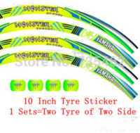 Wholesale 10 Inch High Quality Unique Design Motorcycle Tyre Sticker Wheel Hub Reflect light Tyre Sticker Lowest Price Drop ship