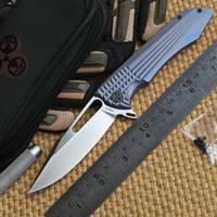 ceramic blade knife - MG original design Shuttle KVT ceramic ball bearing Flipper folding knife S35vn blade TC4 Titanium handle camping hunting knife edc tool