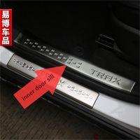 achat en gros de door sill plate-Pour Chevrolet Chevy Trax 2013 2014 2015 Inner Door Sill Plaque de traction en acier inoxydable Trax TRAX Pedal Car Styling Accessories