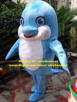 beautiful porpoises - Beautiful Blue Dolphin Porpoise Sea Hog Delphinids Whale Cetacean Mascot Costume Cartoon Character Mascotte White Belly No