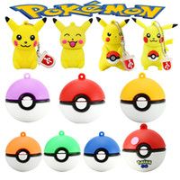 Mini Pen Drive Styles de dessin animé Gift Thumbdrive 8gb 16gb 32gb 64gb Keychain Cartoon Pokeball Usb Flash Drive Pendrive