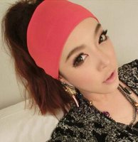 benefit hair - 60pcs Creative Women Candy Color Wide Yoga Headband Stretch Hairband Hair Bands Turban mixcolors benefit