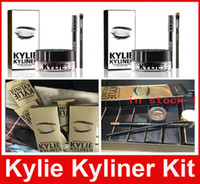 Wholesale Kylie Cosmetics Kylie Kyliner Eyeliner and gel liner In Brown AND Black Kyliner Kit Birthday Edition Dark Bronze Set