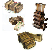 Wholesale New Magic Wooden Puzzle Box Puzzle Wooden Secret Trick Intelligence Compartment Gift