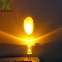 al por mayor láser de color amarillo envío libre-La lámpara ligera amarilla del claro LED del agua redonda de 1000pcs 5m m llevó las lámparas llevadas amarillas de los diodos 5m m Envío libre