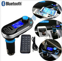 Wholesale BT66 Dual USB Car Kit Charger Wireless Bluetooth Stereo MP3 Player FM Transmitter AUX Micro SD