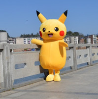 Wholesale In stock Pikachu Mascot Costume Fancy Dress Outfit Pikachu Mascot Costumes