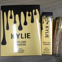 Wholesale KEYLIE Professional Makeup Kylie Matte Liquid Foundation limited Edition Birthday Face Powder Cosmetics ML Matte Foundations