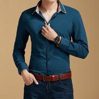Wholesale New Fashion Men s Business Shirt Pure Cotton Long Sleeve Leisure Printed Shirt