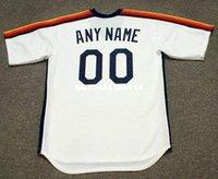 astros throwback - Custom Throwback HOUSTON ASTROS Retro jerseys Home Customized Men s embroidery baseball jersey