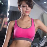 Wholesale 2015 New Hot sports bra vest running clothes women sports running fitness vest Colors bust pad running tights women