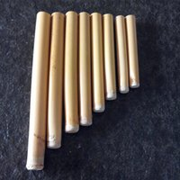 bamboo music - Children s handmade DIY Music Toys Arundo donax Reed Bamboo pipes Pan Flute Panpipes Musical Instrument Paternity Aids Xiao
