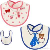 beautiful baby bibs - 5 New Cartoon Bear Baby Bunny Comfortable and Beautiful Cotton Waterproof Bib Dress TRK0066