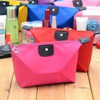 Wholesale 12 cm candy Cute Women s Lady Travel Makeup Bags Cosmetic Bag Handbag Casual Dumpling Purses colors