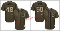 baseball gear - Mens Bostons Mookie Betts Pablo Sandoval Army Green Red Salute To Service Military Camo Baseball Jersey Camouflage Gear Top Popular