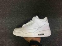 air pur - New Arrive With Box Retro Air III All White Pur Man Basketball Shoes AAAA High Quality Sizes Sneakers