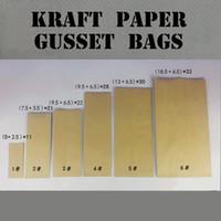 alu paper - 100 Side Gusset Paper Bag for Snacks x33cm Heat Seal Food Grade Alu Foil Kraft Bags for g Tea
