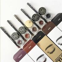 Wholesale New Hot Kylie Cosmetics Kyliner Kit Eyeliner Gel Liner Brushes Five Colors Black Dark Bronze Brown Chameleon