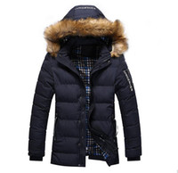 acrylic front panel - 2016 New Arrival Men s Solid Comfortable Causal Long Warm Coat Male Fashion Padded Hooded Winter Wear Thick Coat