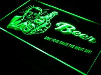 Wholesale j027 Beer Give Your Brain Night Off Bar Pub LED Neon Sign Cheap neon espresso sign
