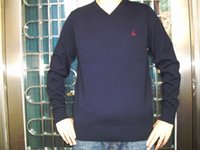 Wholesale Hot Men s High quality new cotton sweaters fashion long sleeve V neck western style sweaters