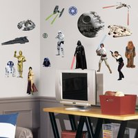 Wholesale Death Star Wars Poster Wall Stickers Movie Wall Decals Art Stormtrooper for Kids Rooms Home Decoration WallPaper Kids Paper
