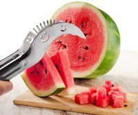 Wholesale Watermelon Slicer Corer Server Knife Fruit Cutter Sliver Stainless Steel Cutting Machine Kitchen Utensils Creative Fruit Vegetable Tool