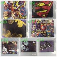 batman id - 200PCS LJJM78 Unisexy Leather Bifold Wallet Credit ID Card Holder Slim Coin Purse Superman Batman Clown Shortage Wallet