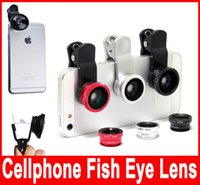 Wholesale Universal Clip in Fish Eye Lens Wide Angle Macro selfie Mobile Phone Camera Glass Lens Fisheye For iPhone Plus s