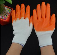 Wholesale New PVC Soak Glue Safety Gloves Unisex Labor Protective Working Gloves loading PVC hang half working gloves safety gloves for oil and gas