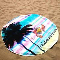 beach vacations europe - 2016 New Summer Large Microfiber Printed Round Beach Towels With Circle Beach Towel On Vacation Accessories Tools