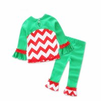 Wholesale New arrival girls pajamas suit shirt soft wear cute Christmas decoration children kids for year kids