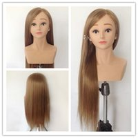 Wholesale Professional Female Mannequin Head quot Hairdressing Training Head Model Mannequin with Shoulder