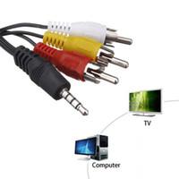 3.5mm mini mâle AV à 3RCA mâle femelle M / F Câble audio Câble adaptateur stéréo