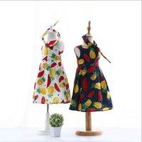 Cheap 2016 Children New Summer Style Kids Hot Sale Baby Girls Lovely Fruit Patterns Dress Cute Sleeveless Dress Charming Dress with Hair Clasp