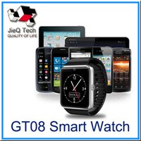Cheap GT08 Bluetooth Smart Watch with SIM Card Slot and NFC Health Watchs for Android Samsung and IOS Apple iphone Smartphone Bracelet Smartwatch